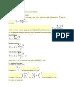 Statistics Formulas