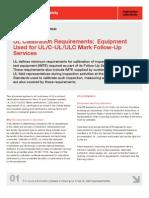 UL Calibration Requirements