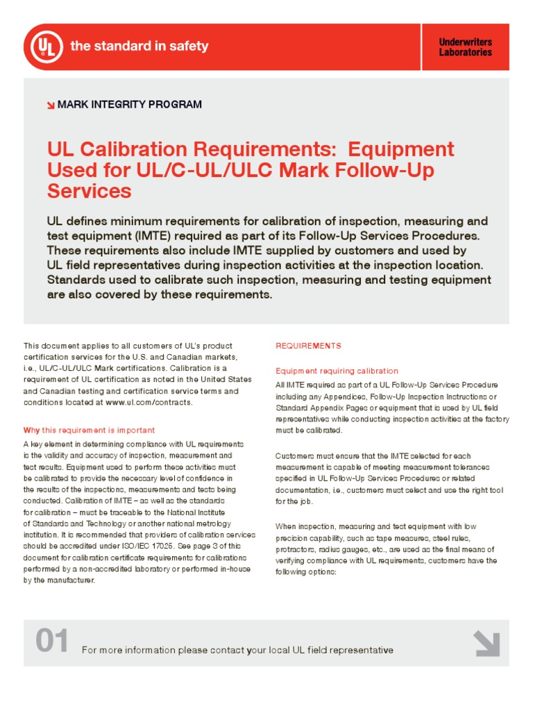 Ul calibration requirements calibration metrology xflitez Gallery