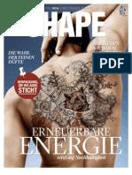 SCA Magazin SHAPE 3 / 2011 fokusiert auf erneuerbare Energie