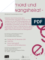 Ehrenmord und Zwangsheirat - Vortrag in Hattersheim
