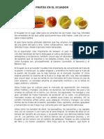 Frutas en El Ecuador