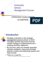 12 Strategey Evaluation & Control