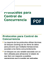 Protocolos para Control de Concurrencia
