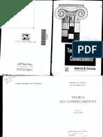 TEORIA DO CONHECIMENTO - CHISHOLM