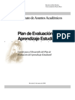 Evaluation of Student Learning Plan (Spanish Revised Version)
