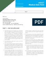 2012 Adult Medical Form