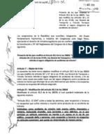Proyecto de Ley 17/2011 Modificación del SOAT