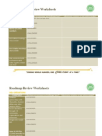 UPD Roadmap Review Worksheets