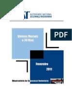 Vitimas a 30 dias - 2011.02 - Relatório Fevereiro 2011