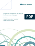 Building Capability for the Effective Implementation of Change 1.0