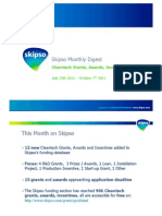 Skipso Monthly Digest October 2011 - Cleantech Grants, Awards, Incentives