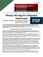 Obama Wrong For Hispanic Americans