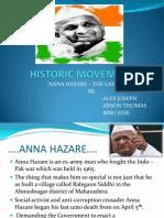 """ANNA HAZARE – THE GANDHIAN"""""""