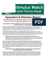 Squandered Stimulus Money