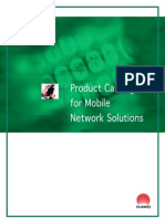 Product Catalogue for Mobile Network Solutions