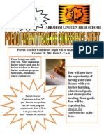 Parent Conference Night October 18