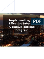 Implementing an Effective Internal Communications Program