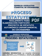 Proceso Estatuyente en Cochabamba, pasos para la construcción participativa del Estatuto de Cochabamba