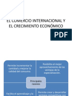 EL COMERCIO INTERNACIONAL Y EL CRECIMIENTO ECONÓMICO