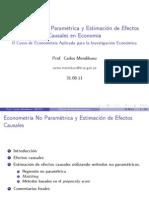 Econometría No Paramétrica 2011