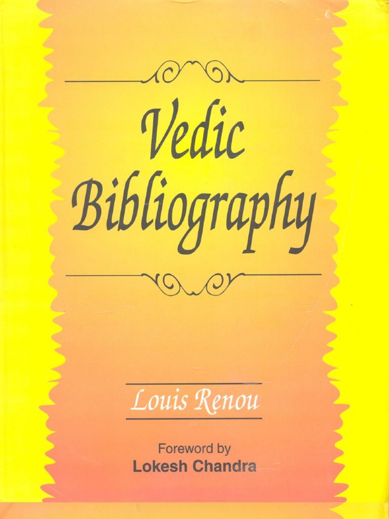 Vedic Bibliography By Louis enou