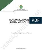 Plano Nacional de Resíduos