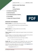 UNIT 1 Fractions and Decimals (3º ESO)
