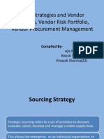 Sourcing Strategies and Vendor Evaluation, Vendor Risk