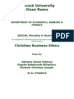 Sexual Morality in Business[1]