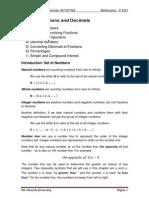 UNIT 1 Fractions and Decimals _3º ESO_
