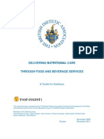 Delivering Nutritional Care Through Food Beverage Services