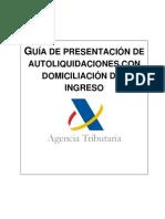 Presentación modelos fiscales con domiciliación