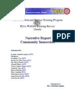 narrative report