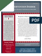 October RtI Newsletter