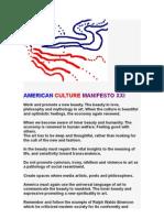 AMERICAN CULTURE MANIFESTO XXI