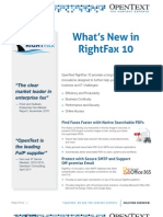 Data Sheet Whats New in RightFax 10
