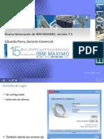Maximo 7.5 funcionalidades