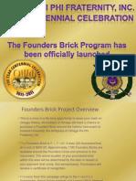 Founders Brick Program Launch Revised 082410