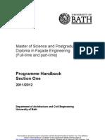 MSc Programme Handbook 2010-11