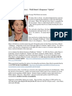 Nancy Pelosi - Wall Street's Option