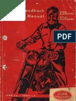 Jawa Workshop Manual 250 model 353 & 350 model 354