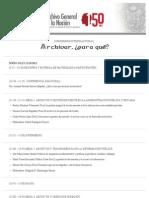 Programa Congreso Internacional ¿Archivar para qué?