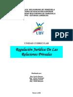 Regulacion Juridica de Las Relaciones Privadas