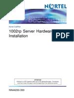 1002rp Server Hardware Installation