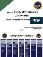 FBI Next Generation ID System Synopsis