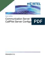 CS1000 and CallPilot Server Configuration
