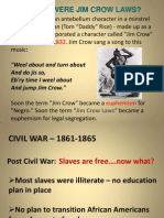 Jim Crow Power Point