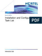 Installation and Configuration Task List