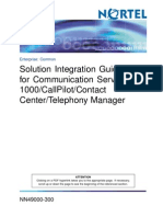 Solution Integration Guide for CS1000,CallPilot,Cantact Center and Telephony Manager